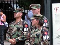 Military police in Boston