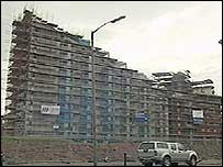 Flats being build on the Clyde