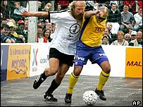 Homeless world cup game in Gothenburg
