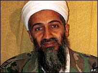 Osama Bin Laden in an undated file photograph