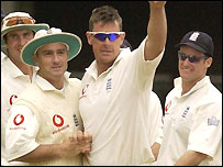 Giles claimed his first five-wicket haul on home soil