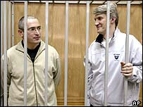 Mr Khodorkovsky and Mr Lebedev in prison