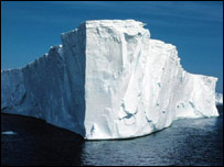 Larsen B ice shelf collapse in 2002 (British Antarctic Survey)
