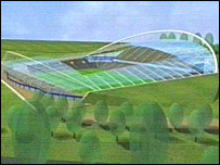 The planned new stadium