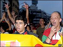 Protesters in Skopje