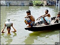 Flood victims in Bangladesh