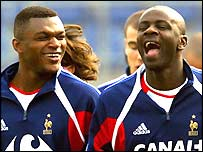 Marcel Desailly and Lilian Thuram