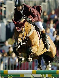 Nick Skelton  and Arko III at 2003 Rome Grand Prix