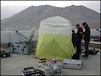 BBC TV crew in Afghanistan