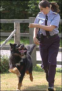 JD the dog and RSPCA Inspector Charlotte Baumann