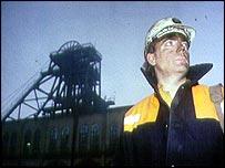 Miner at pithead   BBC
