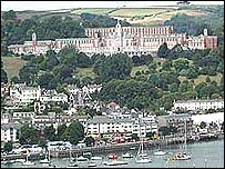 Britannia Royal Naval College overlooking Dartmouth