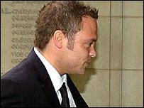 Rupert Young arrives at court