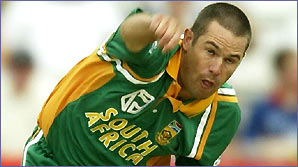 Andrew Hall in action for South Africa in a one-day game