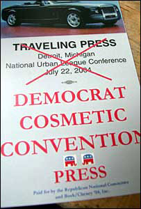 Press pass to get into the republican research area