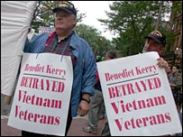 Vets Against Kerry protest