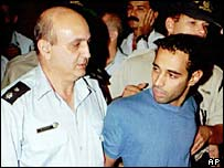 Yigal Amir, held by police in 1995