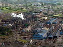 Aerial view of Ravenscraig