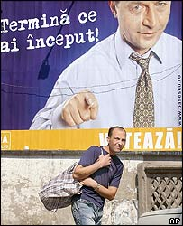 Romanian election posters