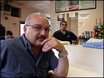 Small restaurant owner Sam Maione