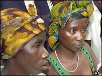 Women refugees in Sierra Leone