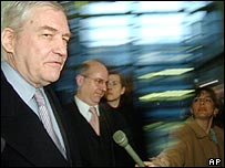 Conrad Black (left)