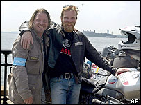 Charley Boorman and Ewan McGregor motorcycled round the world