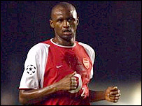 Arsenal skipper Patrick Vieira