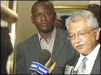 Odumbe and his lawyer
