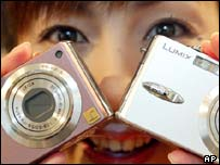 Two Panasonic digital cameras, AP
