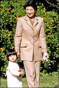 Crown Princess Masako and daughter Aiko, Togu Palace in Tokyo Nov.17, 2003