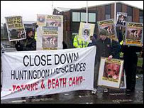 Most animal rights protests remain peaceful and lawful