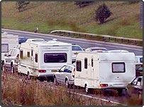 Caravans on the M5