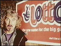 Billy Connolly in a Lotto advert