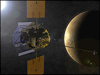 Artist's impression of Mercury Messenger