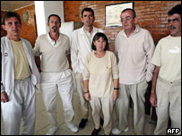 Six detainees held in a Mexican jail accused of belonging to Basque separatist group ETA.