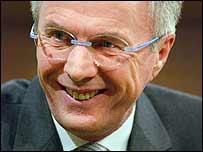 Sven Goran Eriksson, entrenador de la selecci�n de Inglaterra.