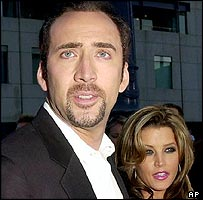 Nicolas Cage and Lisa Marie Presley