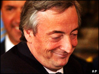 Argentina's President Nestor Kirchner