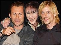 Christian Slater, Frances Barber and Mackenzie Crook