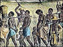 An illustration of the slave trade