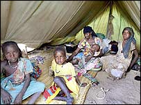 Refugees from Darfur in eastern Chad. File photo