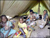 Refugees from Darfur in eastern Chad