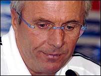 England manager Sven-Goran Eriksson