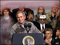 George W Bush in Hershey, Pennsylvania