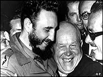 Fidel Castro and Soviet leader Nikita Khrushchev in 1960