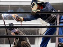 Chinese workers welding