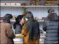 Food stall in Pyongyang