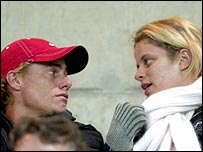 Lleyton Hewitt and Kim Clijsters