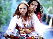 Nathalie Press and Emily Blunt